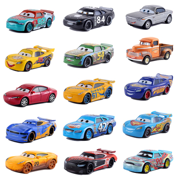 Disney Pixar Cars 3 Lightning McQueen Mater Jackson Storm Ramirez 1:55 Diecast Vehicle No.92 Car Collection Toys Birthday Gifts image