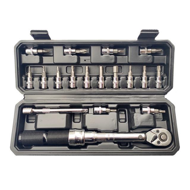 MXITA  1/4inch 1 25NM Click Adjustable Torque Wrench Bicycle Repair tools kit set tool bike repair spanner hand tool set