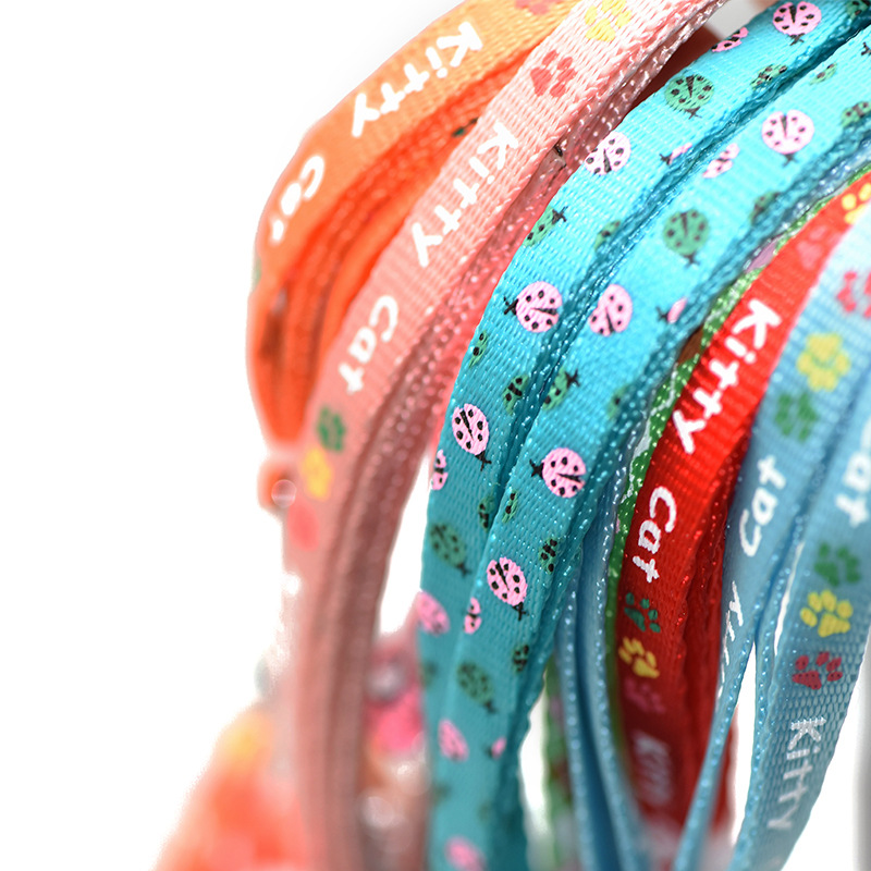 Son Chen Printed Pull Chest Chest And Back-Pet Traction Rope Small Colorful Printed Faux Nylon Dog Rope