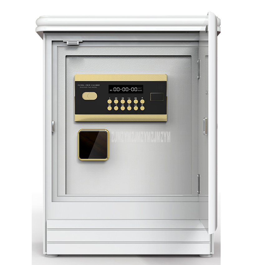 55cm Height Bedside Safe Cabinet With Alarm System Electronic Lock Password Key Safe Box Household Anti-theft Safe Deposit Box