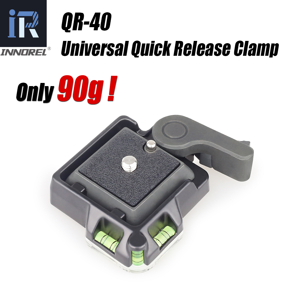 INNOREL High Quality QR-40 Universal Aluminium Alloy Quick Release Clamp Tripod Q.R. Adapter Plate DSLR Photography Accessory
