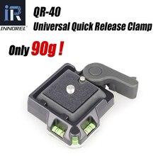 INNOREL trípode de QR 40 de aleación de aluminio, Universal, de alta calidad, Abrazadera de liberación rápida Q.R. Adaptador de placa DSLR accesorio de fotografía