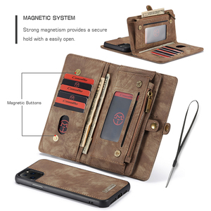 Image 4 - For iPhone 12 Pro SE 2020 6 6s 7 8 Plus XS Max XR 10 X XS Wallet Case Zipper Flip Leather Cover For iPhone 11 Pro Max Phone Case