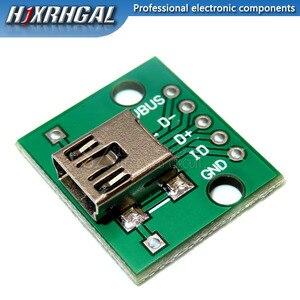 1 шт. Micro Mini USB Мужской USB 2,0 Женский USB разъем интерфейс для 2,54 мм DIP PCB конвертер адаптер Breakout Board Hjxrhgal
