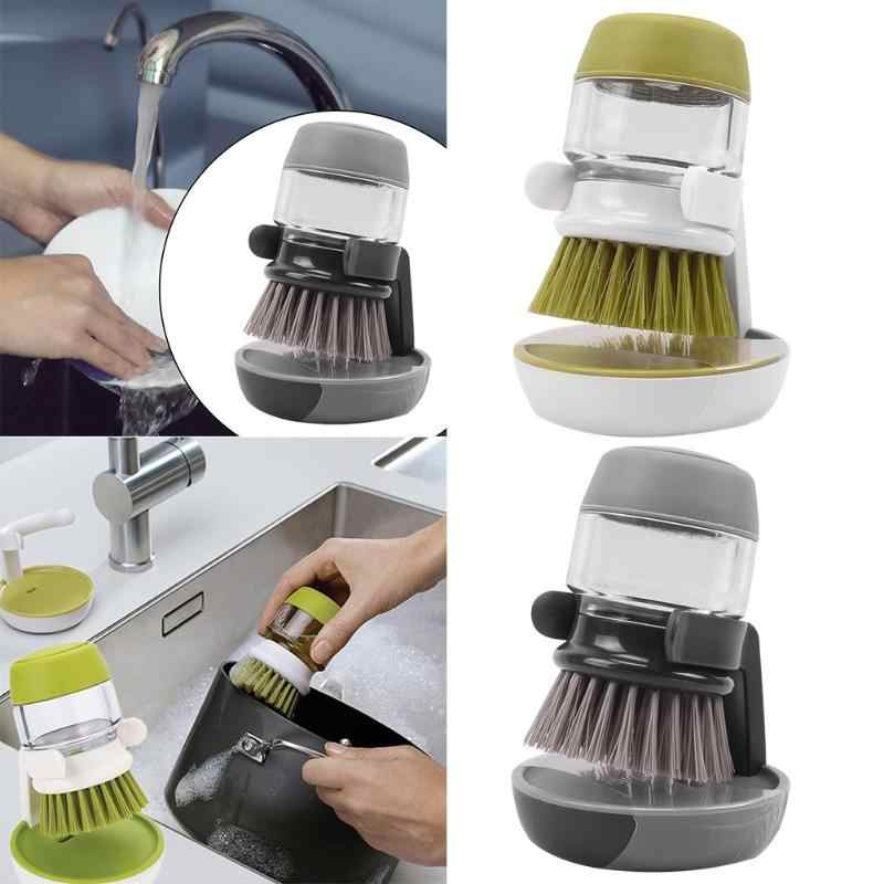Kitchen Cleaning Brush Utensils Dish Pot Home Wash Liquid Soap Dispenser  Refillab Refillable Bowls Cleaning Kitchen Clean Tools