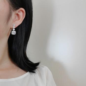 Cubic Zirconia Long Drop Dangle Earrings Earrings Metals Type: Copper