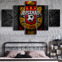 Premier League Arsenal Foot Ball Poster 5 Pieces Canvas Paintings Sports Soccer Prints Wall Art Posters Kids Room Home Decor