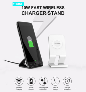 Image 1 - 10W Stand Fast Wireless Charger For Samsung Galaxy S10 S9/S9+ S8 Note 9 USB Qi Charging Pad for iPhone 11 Pro XS Max XR X 8 Plus