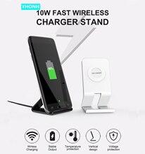 10W standı hızlı kablosuz şarj Samsung Galaxy S10 S9/S9 + S8 not 9 USB Qi şarj pad iPhone 11 Pro XS Max XR X 8 artı