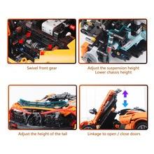 Technic Compatible 42056 MOC McLaren P1 Super Hypercar Veneno Roadster Model Building Blocks  APP RC Car  s Toy Gift