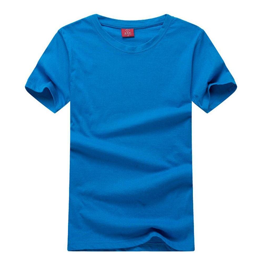 prostý o krk prázdné trička letní trička košile mujer tričko vysoce kvalitní 100% bavlna krátký rukáv topy tričko pevné 180gsm