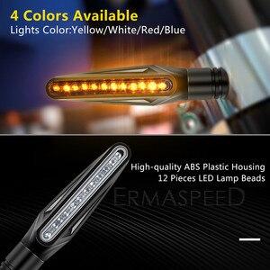 Image 3 - Motorfiets Led Verlichting Richtingaanwijzer Motor Lamp Sequentiële Blinker Flasher Mini Motorfiets Led Indicatoren Voor Yamaha Mt07
