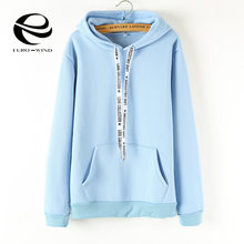 Plus Size S-3XL Hoodies Women 2019 Long Sleeve Solid Color Hooded Sweatshirt Hoodie Tracksuit Sweat Coat Casual Top Kpop Bangtan(China)