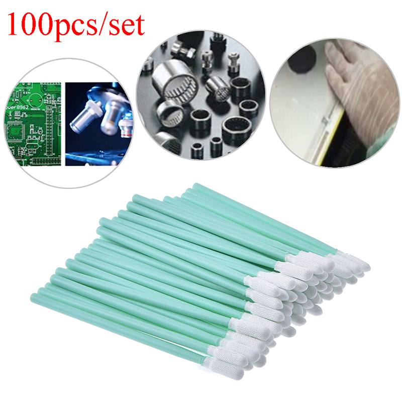 100 Pcs Cleaning Swabs Sponge Stick For Epson/Roland/Mimaki/Mutoh Eco Solvent Printer Cleaning Swab 70mm