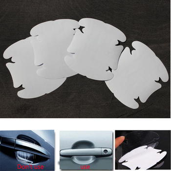 4PCS Car Styling Car Handle protector Stickers Vinyl Decal Decoration film Car Diy Sticker Tuning parts Hot Selling image