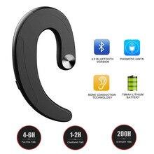 אלחוטי Bluetooth אוזניות אחת אוזניות אוזניות מעולה אוזניות דיבורית הולכה עצם אוזניות אוזניות עם מיקרופון