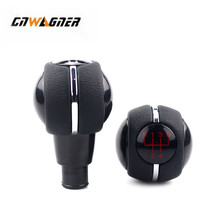 For Mini Cooper F55 F56 F54 F60 Car Gear Shift Knob Shifter knobs Lever Cover Gaitor Leather Boot 5 Speed Manual