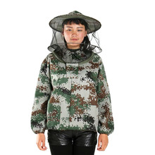 New Beekeeping Half Body Protective Jacket Veil Smock Equipment Supplies Beekeeping Hat Sleeve Suit Anti-bee Safe Clothing Large protective pants veil bee protecting dress camouflage beekeeping suit beekeeper bee suit smock