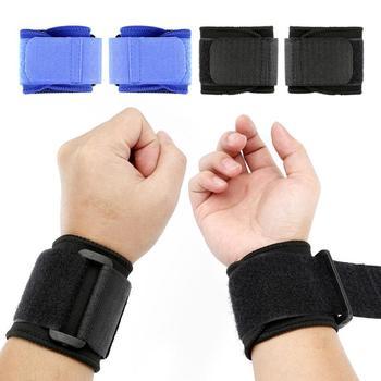 2 szt 1 para nadgarstek podpora regulowana oddychająca ochraniacz na rękę elastyczna miękka opaska na rękę bandaż sportowy z wyposażeniem ochronnym tanie i dobre opinie Dla dorosłych CN (pochodzenie) Nylon Hand Wrist Support Composites Black Blue Dropshipping wholesale