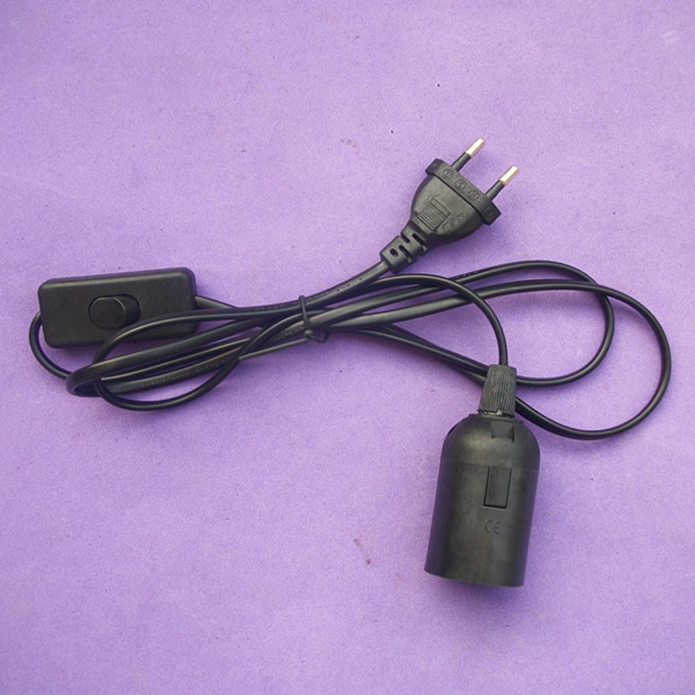E27 EU Plug Lamp Holder Converter With On/Off Switch Light Bulb Extension Cable Lampholder E27 Socket Hang Lightbulb Wire
