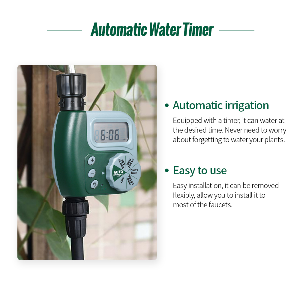Image 5 - Automatic Water Timer Outdoor Garden Irrigation Controller 1 Outlet Programmable Hose Faucet Timer Garden Watering Device-in Flow Meters from Tools