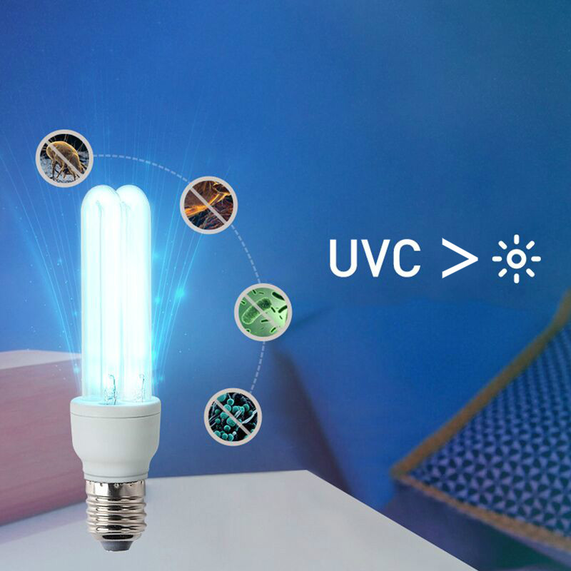 20/36W E27 UV Disinfection Lamp UVC Germicidal Ultraviolet Light Tube Bulb Ozone Sterilization Mites Lights Germicidal Lamp Bulb