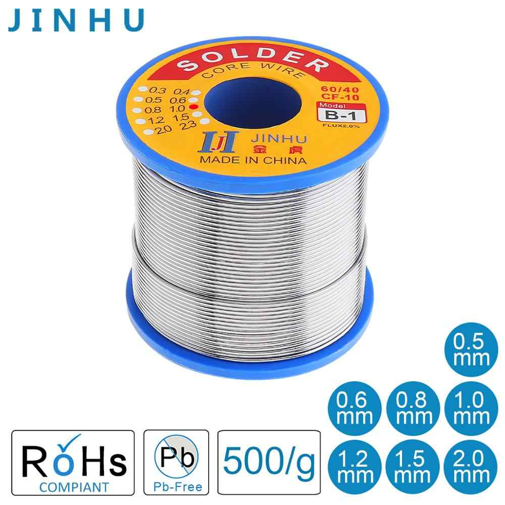 New 400G 0.8mm 60//40 Tin lead Solder rosin flux Wire Roll Soldering New