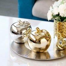 Статуэтки золотого яблока керамические украшения Ремесло серебряное