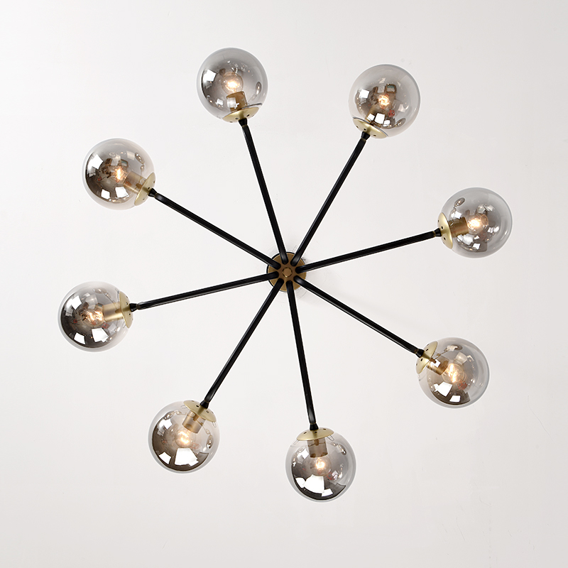Ultra Modern Nordic Chandelier Lighting 4 Color Lights LED Edison 6 Lights Chandeliers Indoor Light