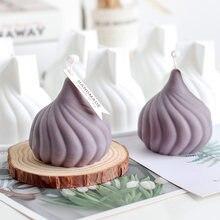 Moule de bougie en silicone, aromathérapie, créatif, tête d'oignon, décoration, cadeau de vacances européen, fabrication de bougies
