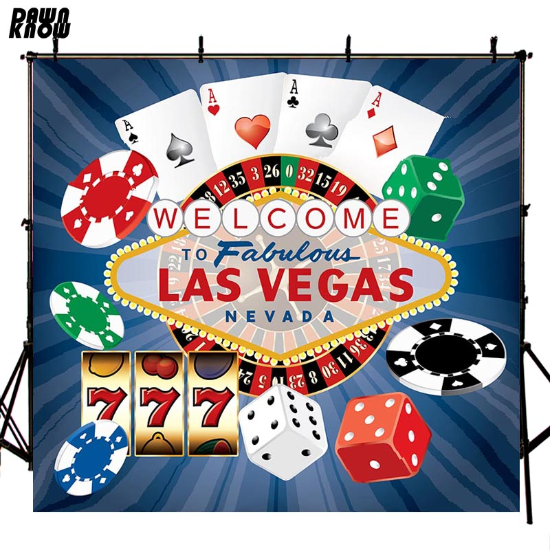 DAWNKNOW Gambling House Vinyl Photography Background For Newborn <font><b>LASVEGAS</b></font> Photo Shoot Backdrop For Wedding Photo Studio lv408 image
