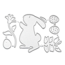 Easter Bunny Rabbit Metal Cutting Dies Stencils For DIY Scrapbooking Decorative Embossing Paper Cards Craft Die Cut