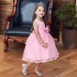 Princess Flower Girl Dress Summer Tutu Wedding Birthday Party Dresses Girls Children's Costume Teenager Prom Designs New 2020