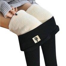 Winter Leggings Solid-Pants Velvet Ankle-Length High-Waist Plus Large-Size Women's Warm