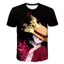 2020 One Piece 3DT-Shirt Luffy Straw Hat Japanese Anime funny T Shirts MEN WOMEN O-neck Black SHORT SLEEVE boys girls tees tops(China)
