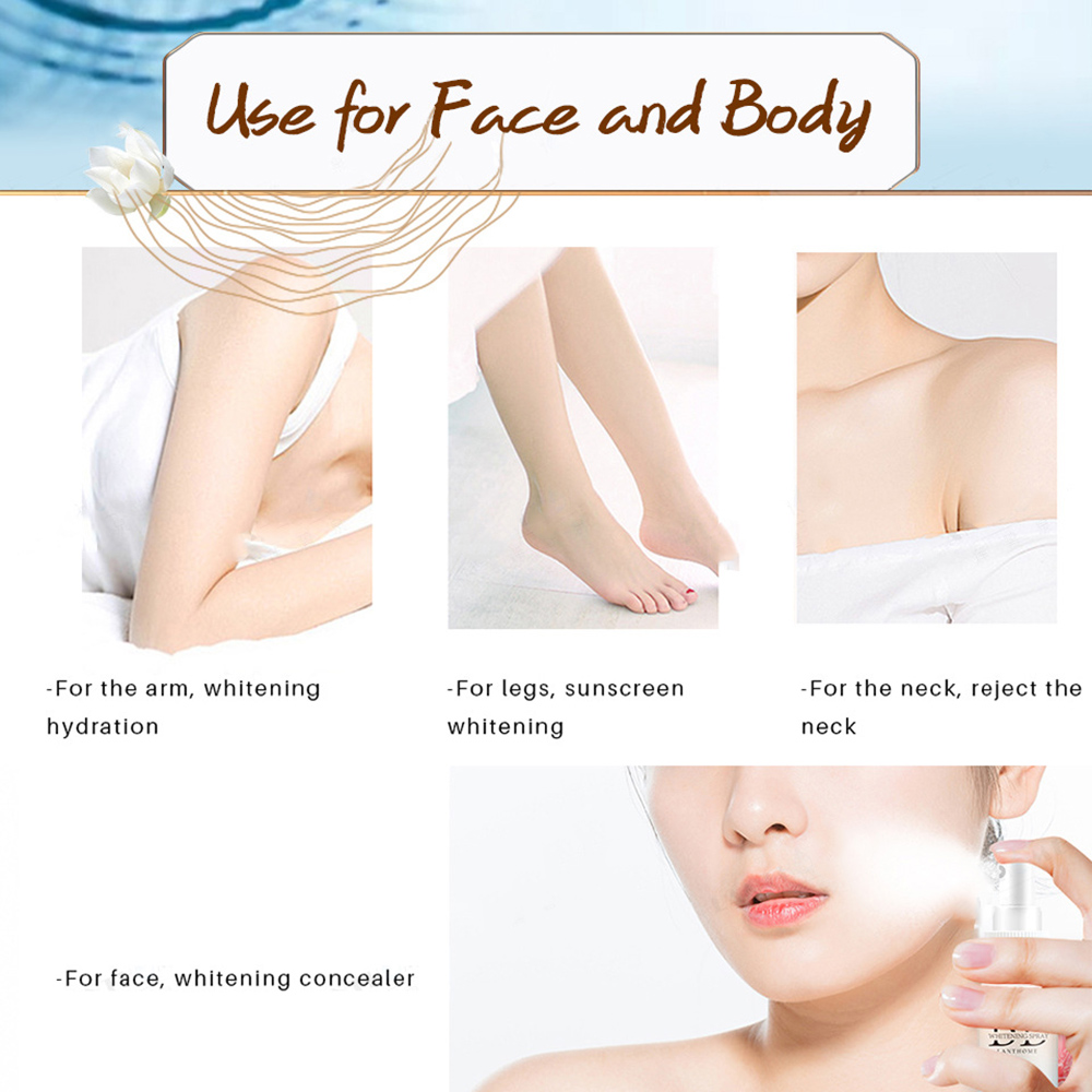 1 Pcs New BB Cream Spray Body Whitening Cream For Private Underarms Hands Skin Whitening Lotion Whitening Deep Sunscreen 1