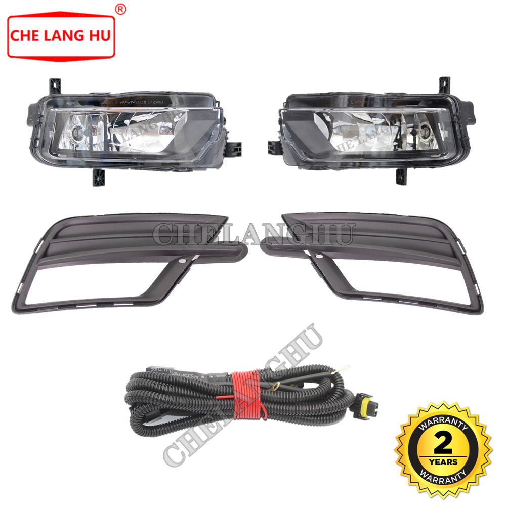 NEW VW CADDY III FRONT BUMPER FOG LIGHT GRILLE BLACK//CHROME  RIGHT O//S  2010