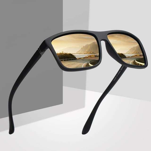 Gafas de sol de diseño clásico para hombre, lentes de sol de marca de lujo, para pescar, conducir, cuadradas, 2019 2