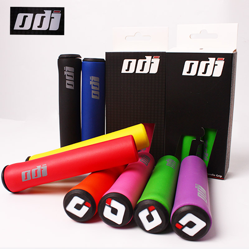 1 Pair ODI Bicycle Grips MTB Silicone Handlebar Grips Anti-skid Shock-absorbing Soft Bike Grip Mountain Bike Accessories