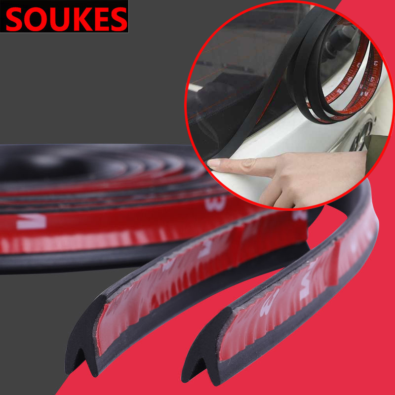 2/5M Car Rear Windshield Roof protector Seal Strip For Hyundai Creta Tucson Volkswagen <font><b>VW</b></font> <font><b>Golf</b></font> <font><b>7</b></font> <font><b>GTI</b></font> Kia Ceed Rio Sportage 2017 image