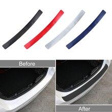 3D karbon Fiber bak araba kapı plakası eşiği itişme kapak Sticker araba kapı plakası eşiği itişme kapak Sticker Anti Scratch koruyucu