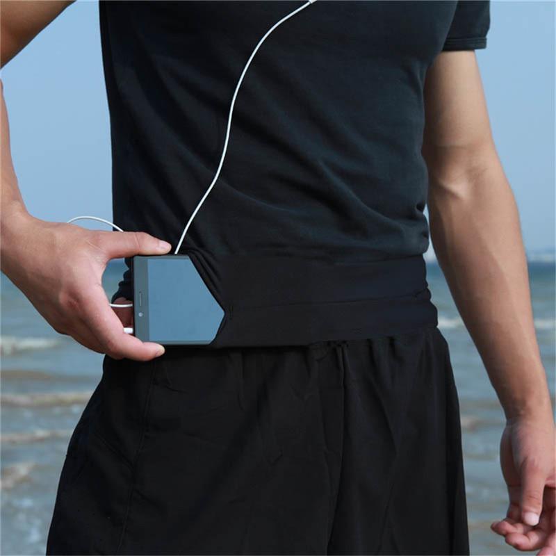 HobbyLane  Men Women Running Waist Bag Pouch Sport Belt Mobile Phone Hidden Bag Racing Jogging Gym Running Belt Waist Pack