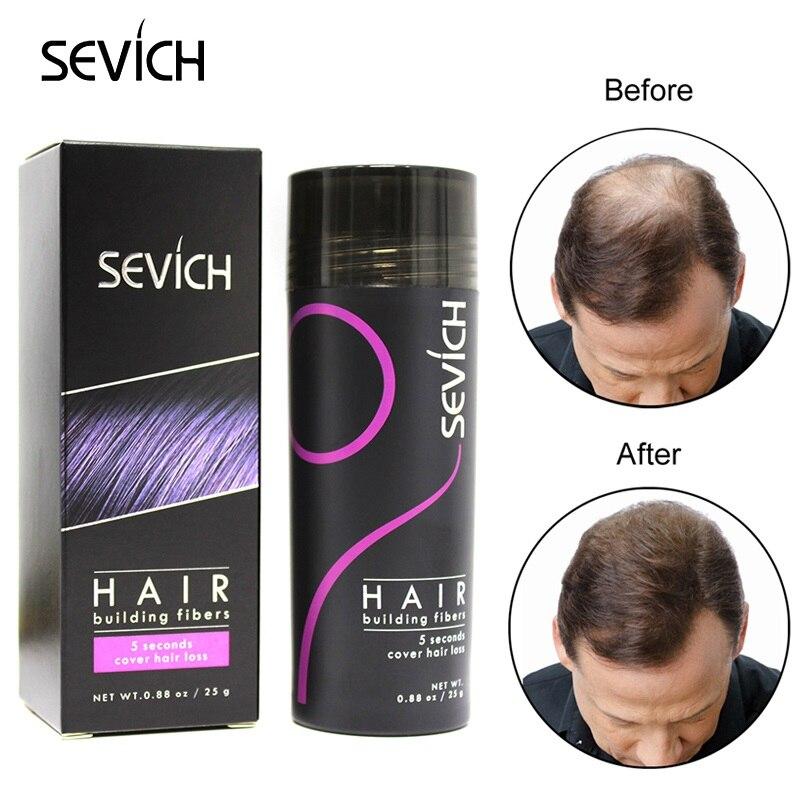 Sevich Hair Fiber Powder Thicken Hair Growth Keratin Hair Building Fiber Powder Hair Loss Wig Regrowth Hair Extension Powder 25g