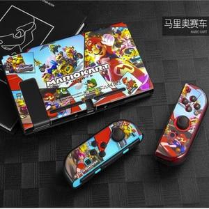 Image 3 - Marios抗指紋nintendスイッチnintendoswitch nsコンソールゲームのためのプロテクターアクセサリー & 親指キャップ