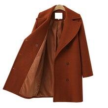 Buy Women's Wool Coat Long Windbreaker Woolen Winter Custom Cropped Maternity Wear Hoodie Thick for Girl Pregnant Woman Coat directly from merchant!