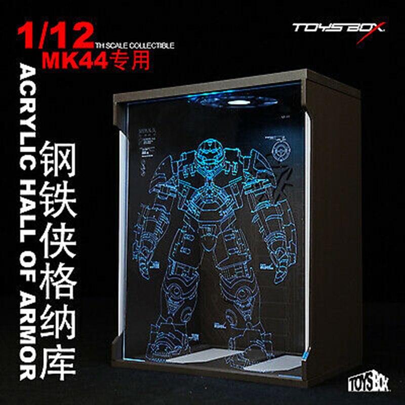 Boîte de présentation ajustement fer homme Figure pour Collection jouets-boîte 1/12 Comicave SHF MK44 Hall Armor présentoir boîte anti-poussière étui modèle