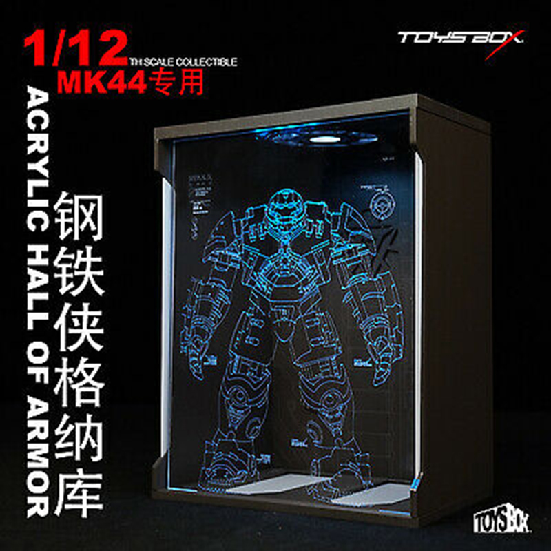 Display Box Fit Iron Man Figure For Collection TOYS-BOX 1/12 Comicave SHF MK44 Hall Armor Dust Proof Case model