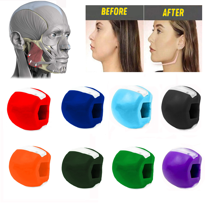 Chew-Ball Breaker Face-Masseter Muscle-Exerciser Training Jaw Jawline Pop-N-Go-Mouth