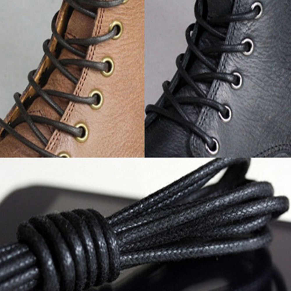 NEW 1pair Casual Shoelaces Waxed Round Shoe Laces Candy Colors Shoestring Martin Boots Sport Shoes Cord Ropes
