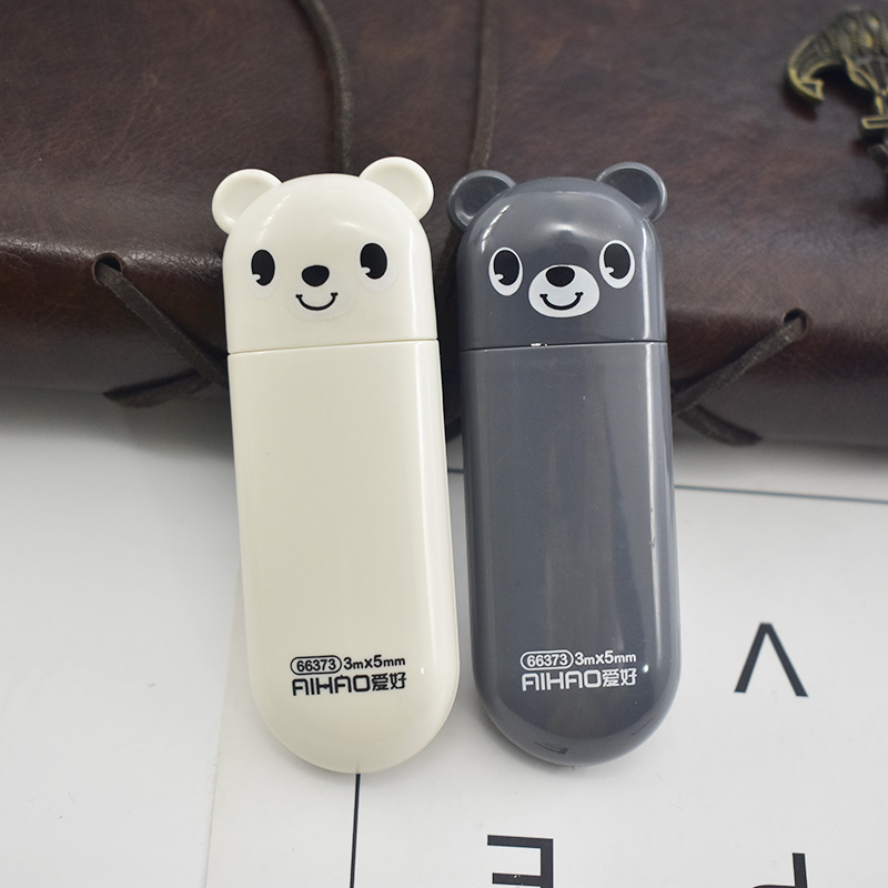 1Pc Cute Bear Correction Tape 5mm*3m Kawaii Cartoon Correction Tape For Kids Girls Gifts School Stationery Correction Supplies image